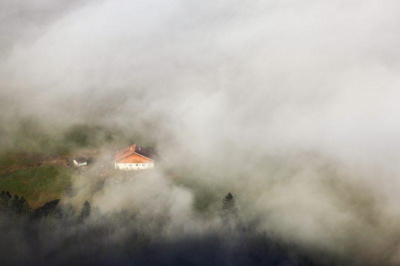 Photographie de paysage prise à dans la Région des Franches-Montagnes dans le canton du Jura en Suisse Les Sommêtres Le Noirmont