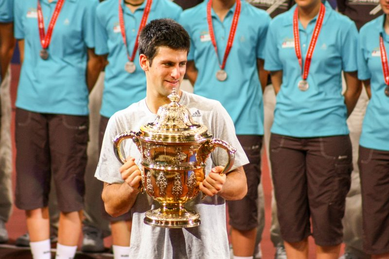Photographe de sportsNovak Djokovic, final Swiss Indoors, Bâle, 2009