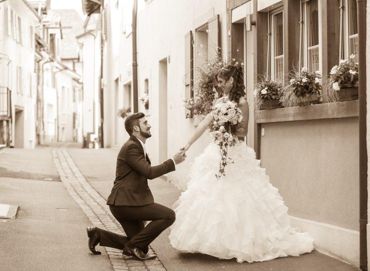 mariage à Delémont dans le Jura en Suisse
