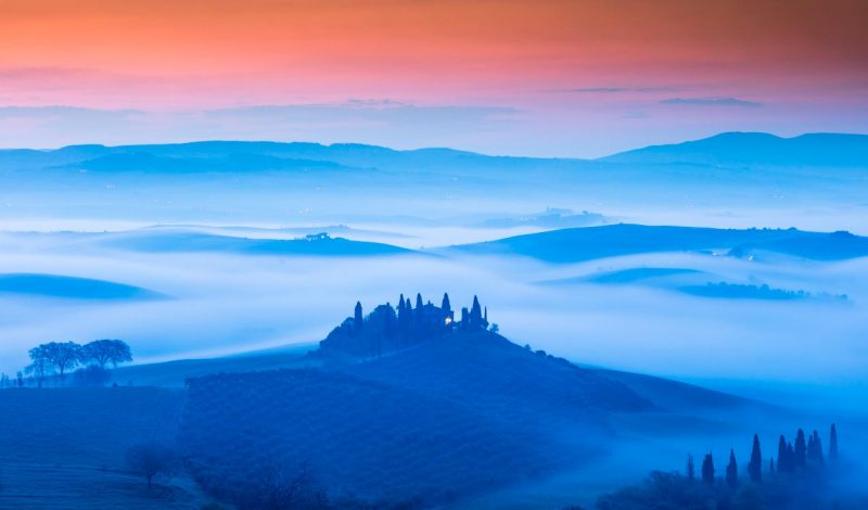 Photographie de paysages Toscane Italie Tuscany Italy
