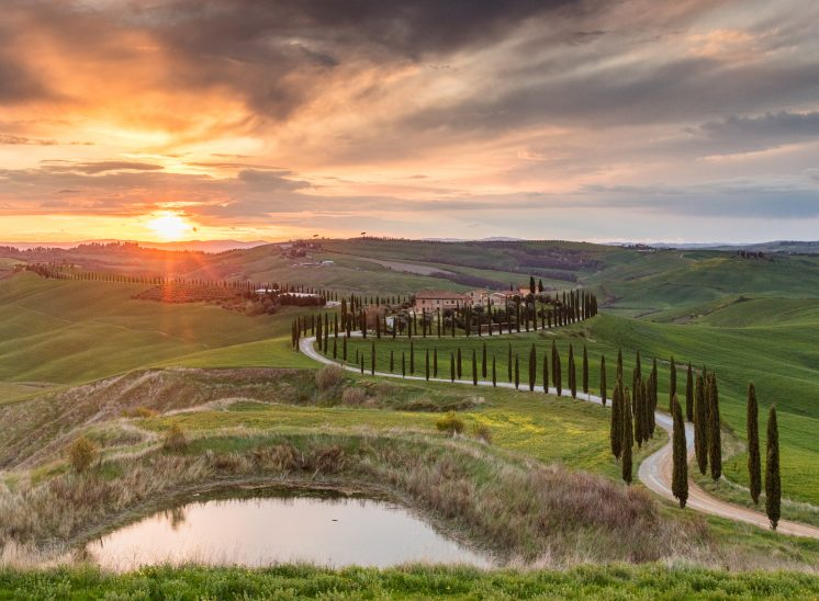 Photographie de paysage prise dans le Val D'Orcia en Toscane en Italie, Tuscany Italy