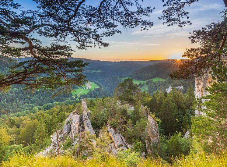 Photographie de paysage prise dans la dans la région des Franches-Montagnes dans le canton du Jura en Suisse