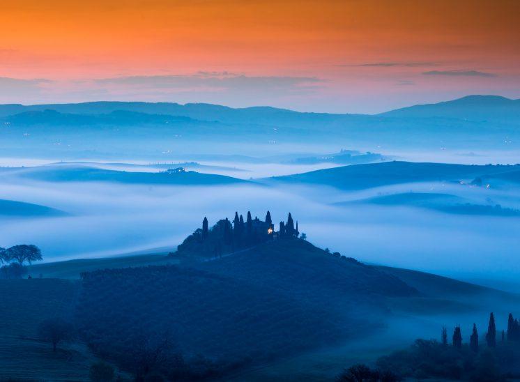 Photographie de paysage prise en Toscane en 2018, Il Belvedere Tuscany