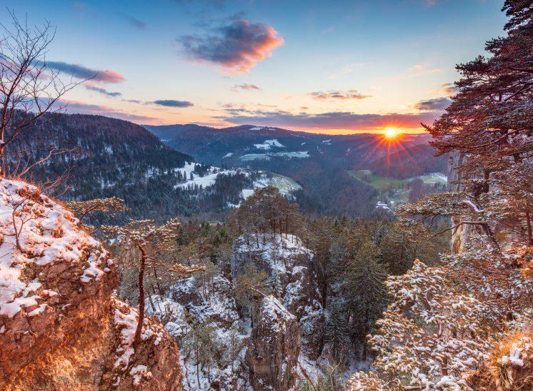 Photographie de paysage pris dans la région des Franches-Montagnes, canton du Jura, Suisse, 2020