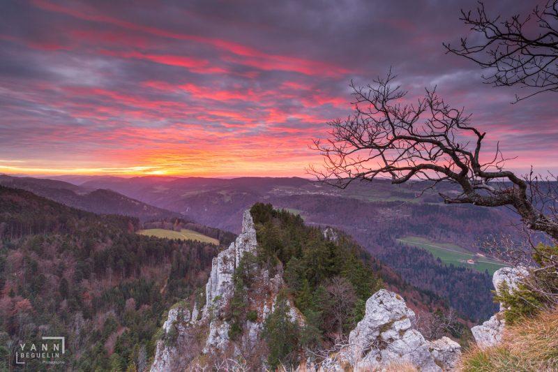 Photographie de paysage prise aux Sommêtres dans le canton du Jura en Suisse en 2017, Switzerland 2017