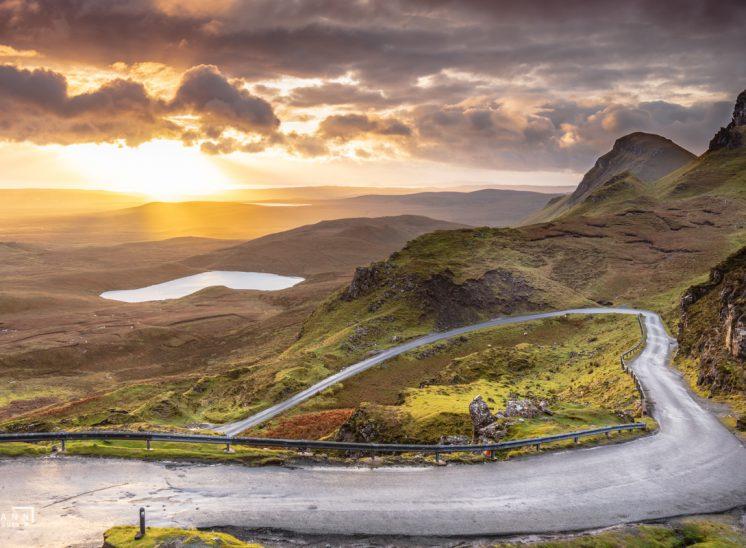 Photographie de paysage prise au Quiraing sur l' île de Skye, Royaume-Uni, 2017