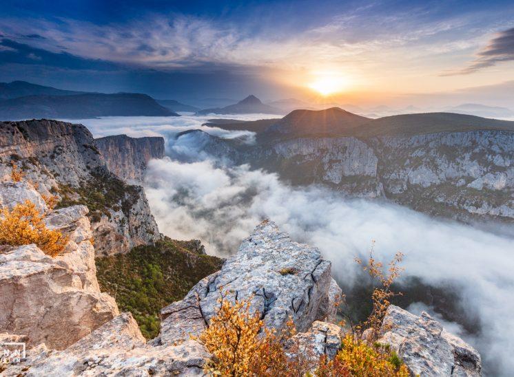 Photographie de paysage prise dans les Gorges du Verdon en France en 2018