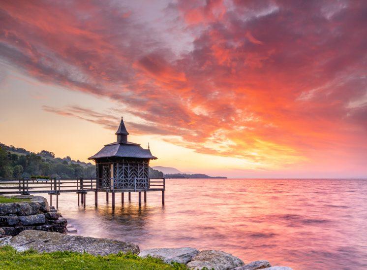 Photographie de paysage, Pavillon des Bains à Gorgier dans le canton de Neuchâtel en Suisse landscapes photographer