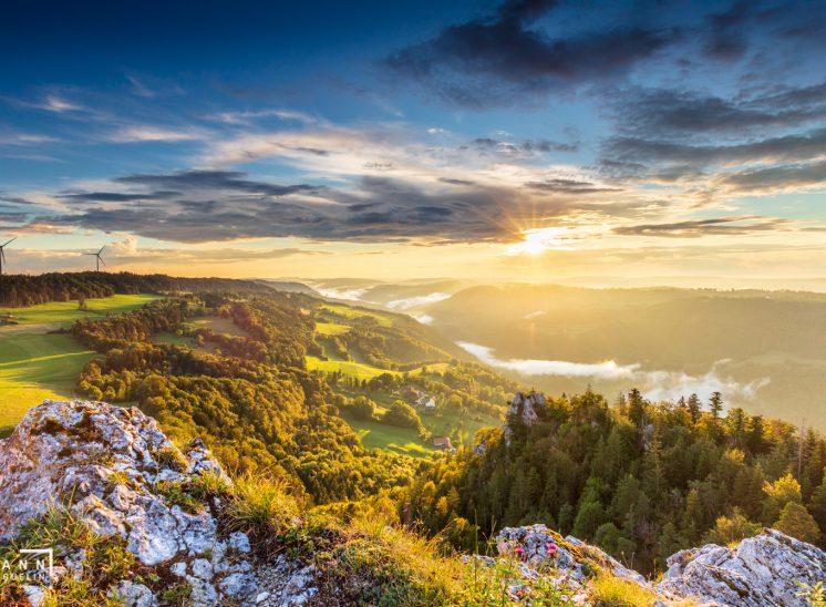 paysages du Jura, Franches-Montagnes, Suisse