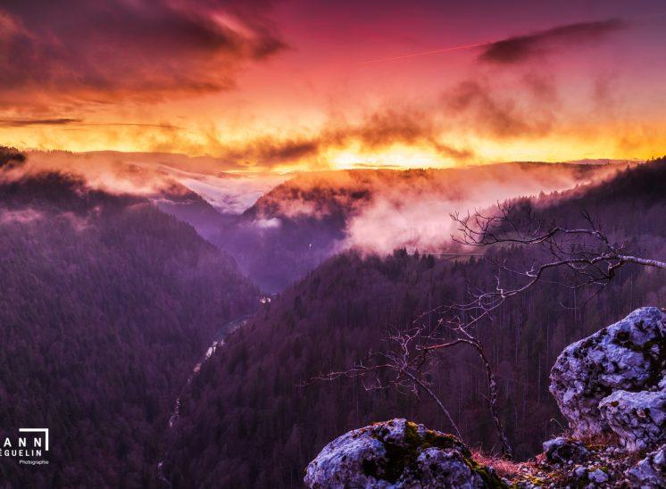 Photographie de paysage prise dans le canton du Jura en Suisse en 2017, Switzerland 2019 combe de Biaufond