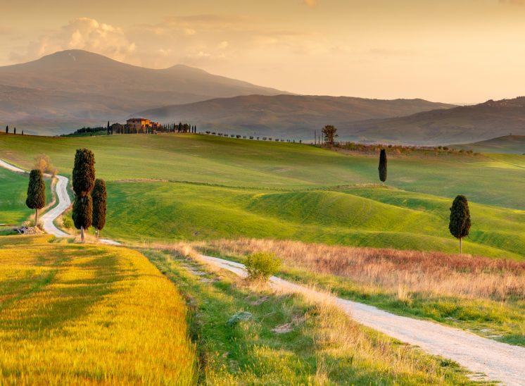 Photographe de paysages Italie Val d'Orcia, Tuscany, Italy, route des Gladiateurs
