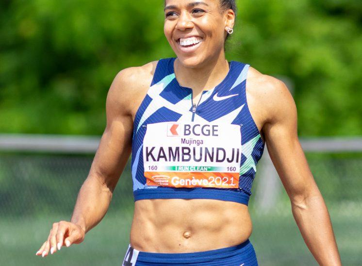 La sprinteuse Mujinga Kamboudji à ATHLETICAGENEVE en 2021