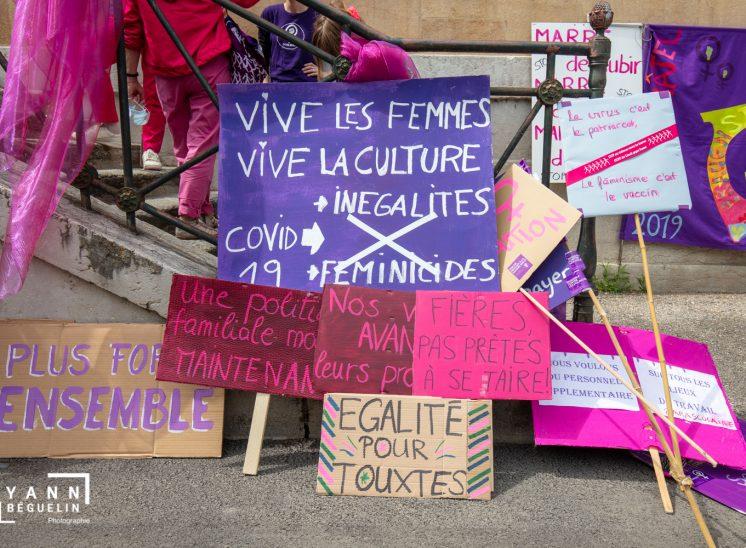 Grève féminine, Neuchâtel, Suisse, 2020